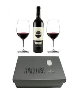 Pack regalo 2 copas RIEDEL + vino