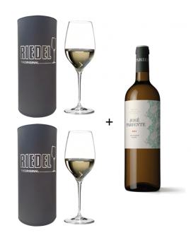 2 copas Riedel Grape Sauvignon + Vino